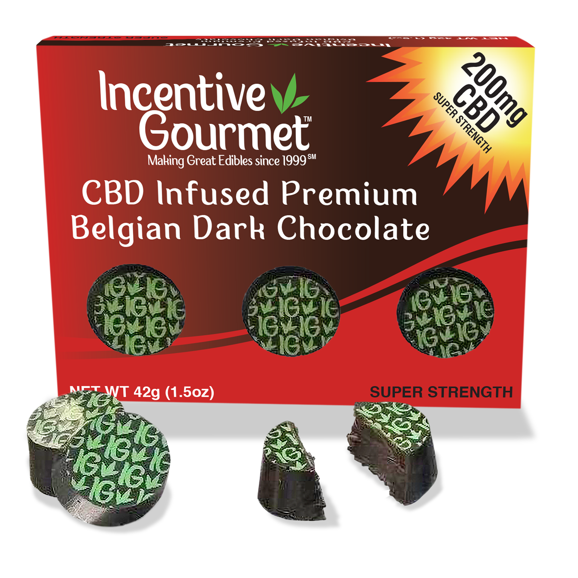 CBD Infused Premium Belgian Dark Chocolate Box