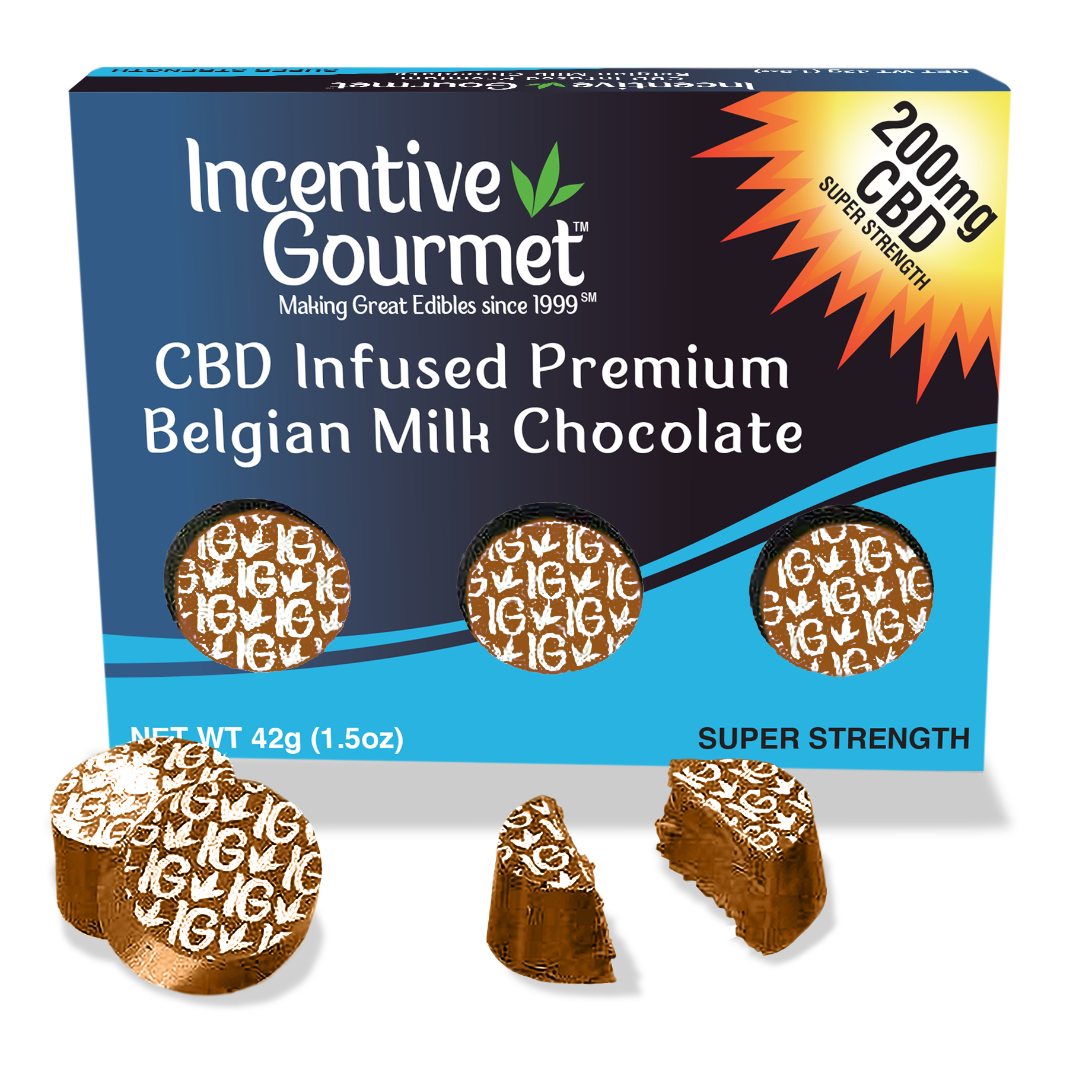 CBD Infused Premium Belgian Milk Chocolate Box